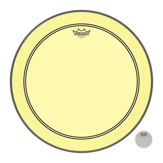 "REMO 22"" Powerstroke 3 Colortone Yellow"
