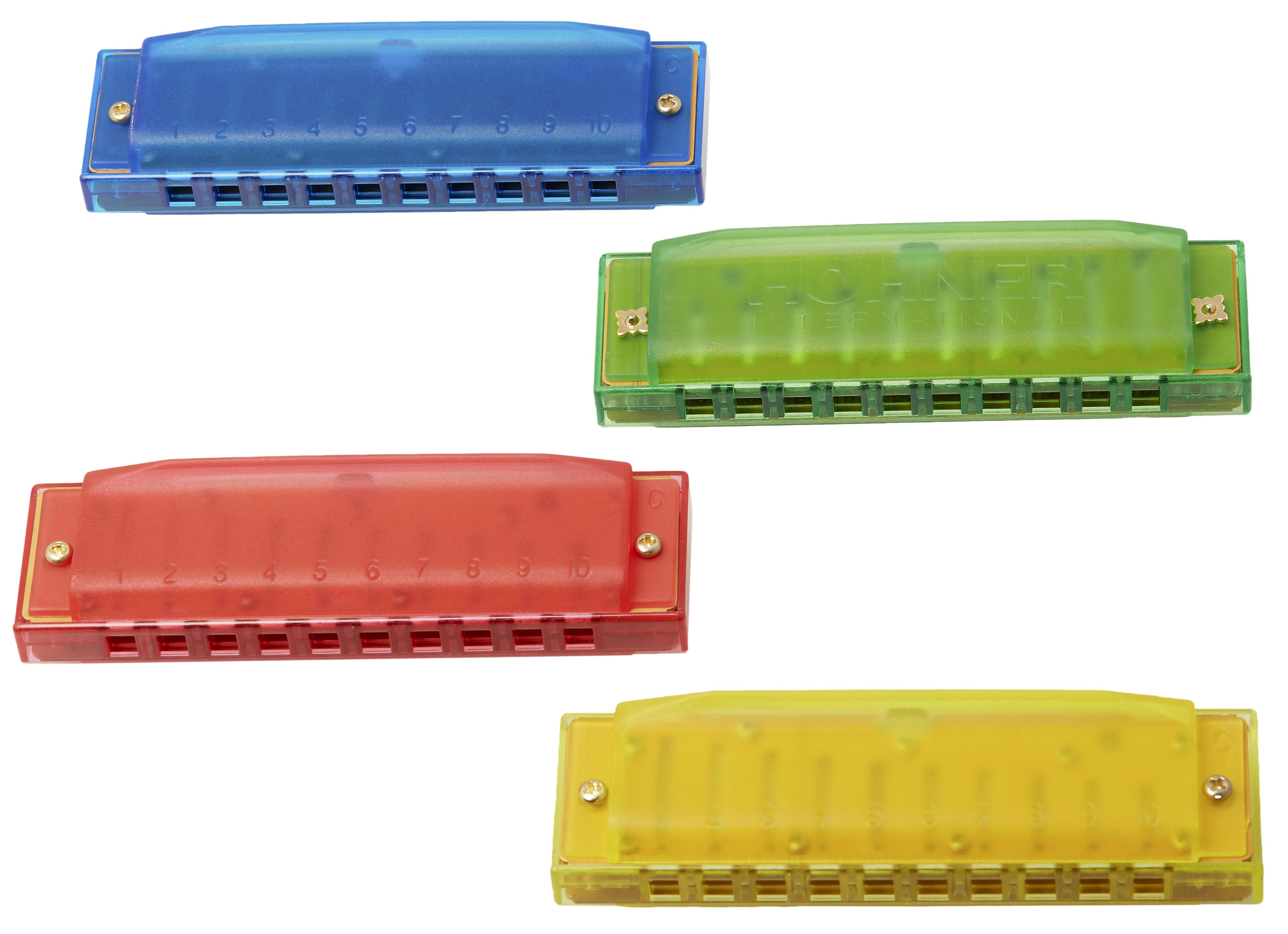 HOHNER Happy Colour Harp Display 6 pieces each colour
