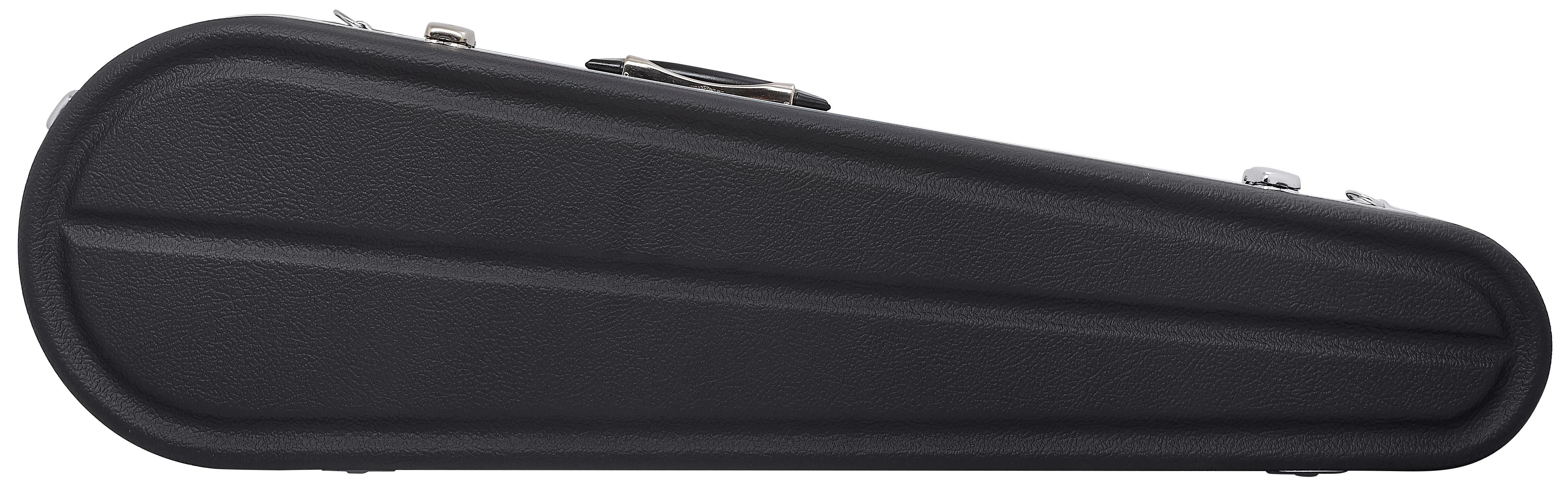 HISCOX Shaped Violin Case - Black/Silver