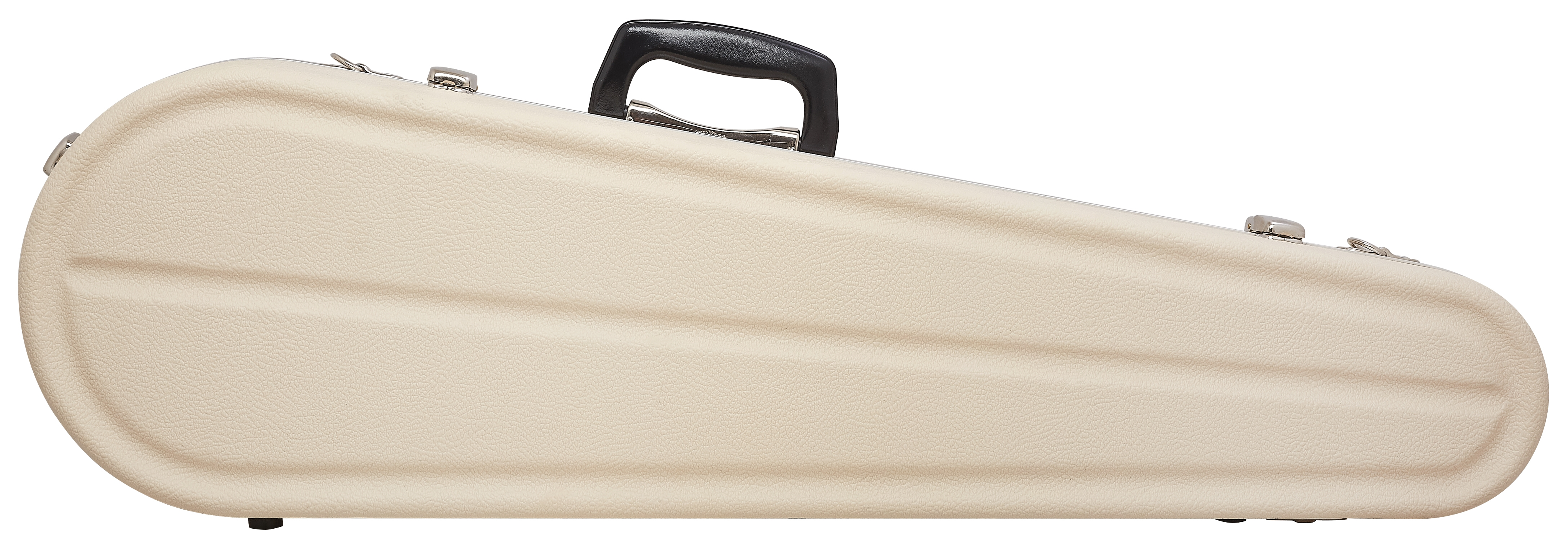 HISCOX Shaped Violin Case - Ivory/Silver