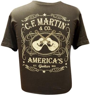 MARTIN T-Shirt Dual Guitar S