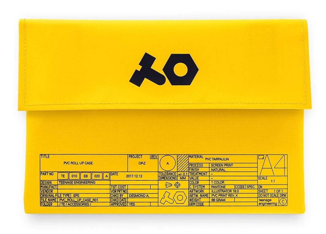 TEENAGE ENGINEERING OP-Z PVC Roll Up Yellow
