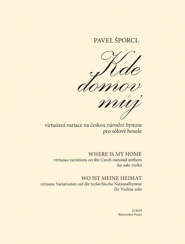 KN Kde domov můj - virtuózní variace na českou národní hymnu pro sólové housle