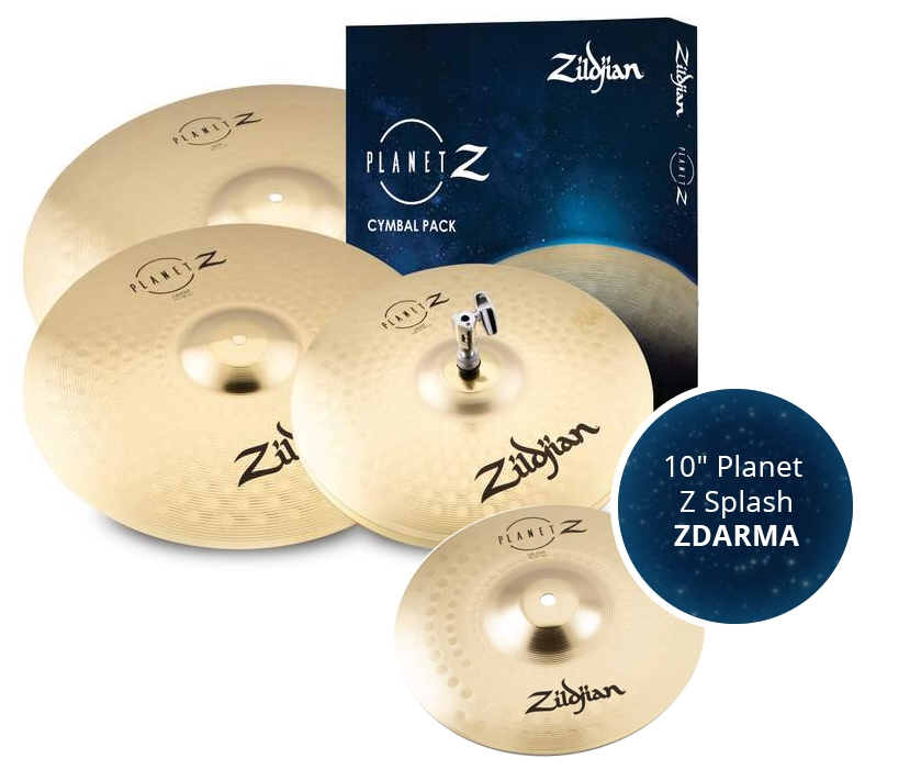 "ZILDJIAN Planet Z 4 Cymbal pack + 10"" Planet Z Splash"