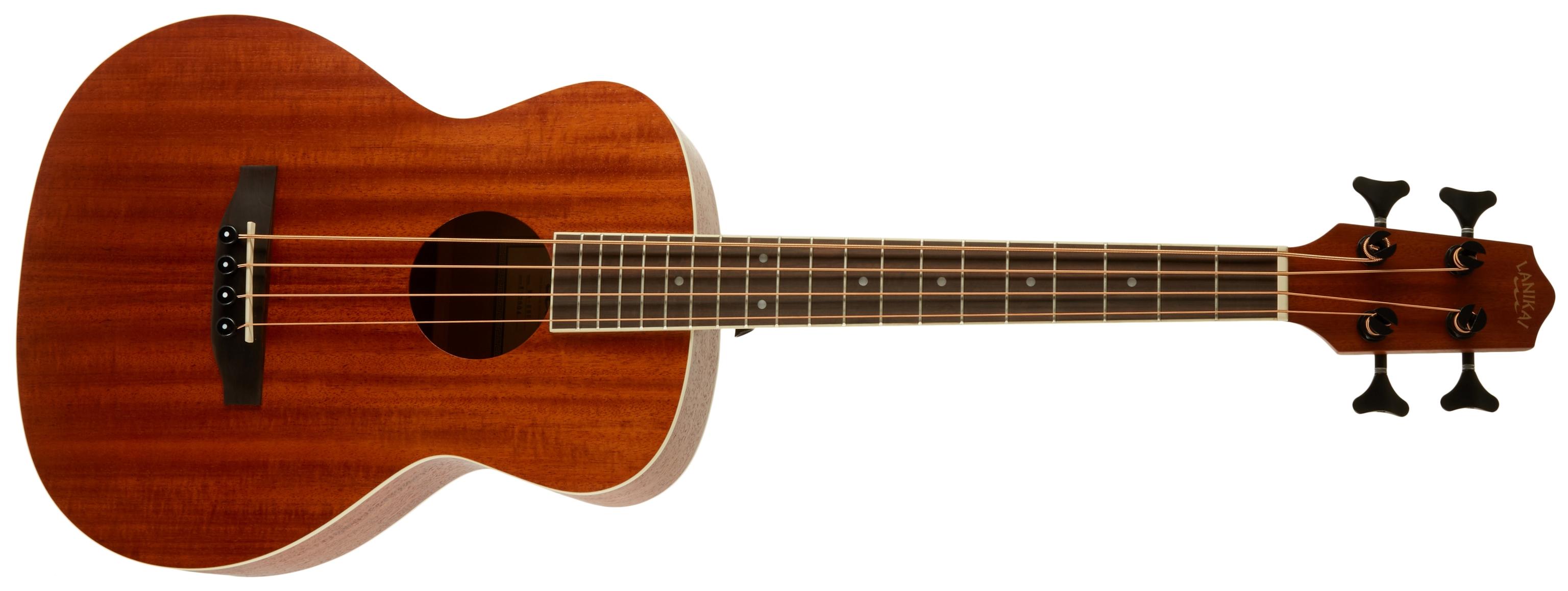 LANIKAI Mahogany Electric Bass Ukulele