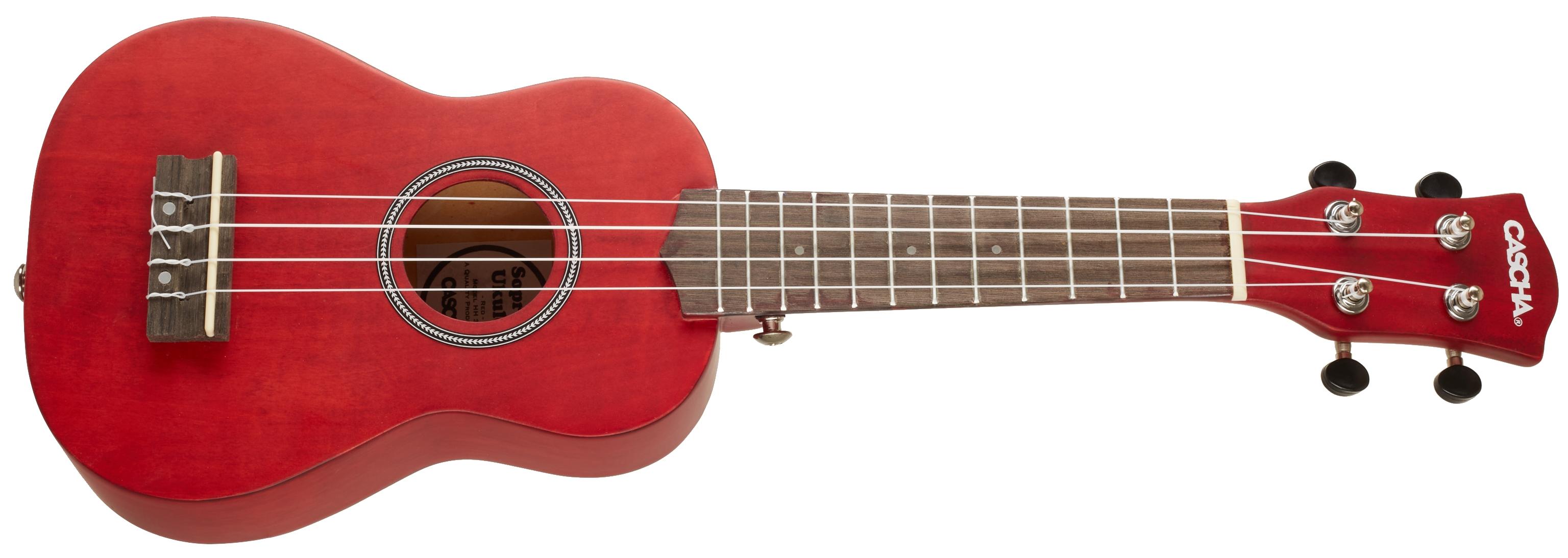 CASCHA HH 3961 Soprano Ukulele Red