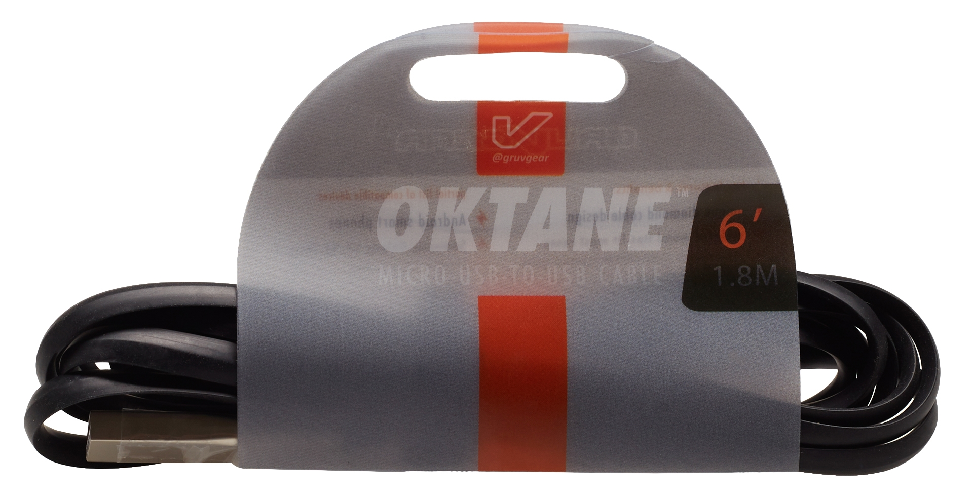 GRUVGEAR Oktane Charging Cable Micro USB 6'