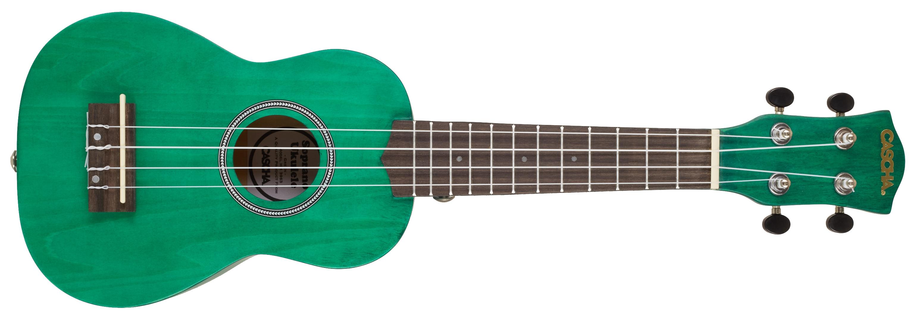CASCHA HH 3972 EN Soprano Ukulele Bundle Green