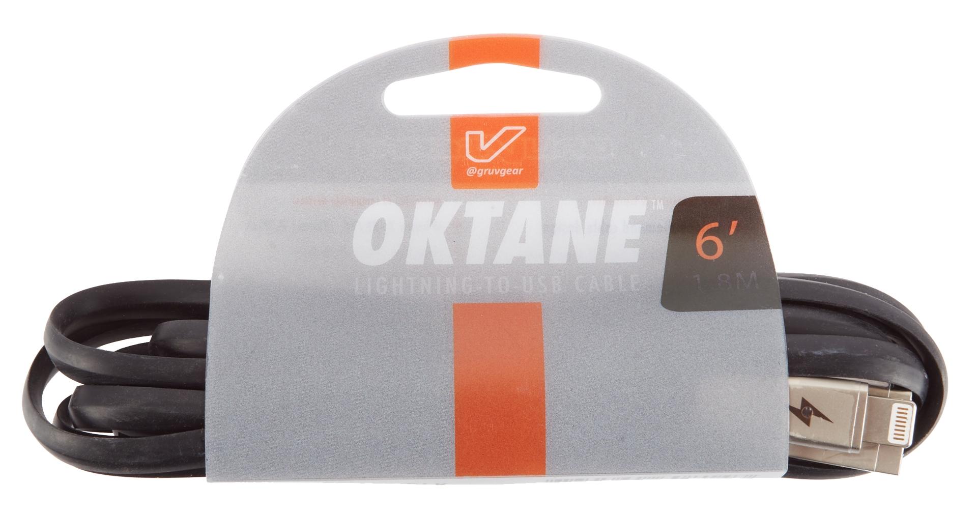 GRUVGEAR Oktane Charging Cable Lightning 4'