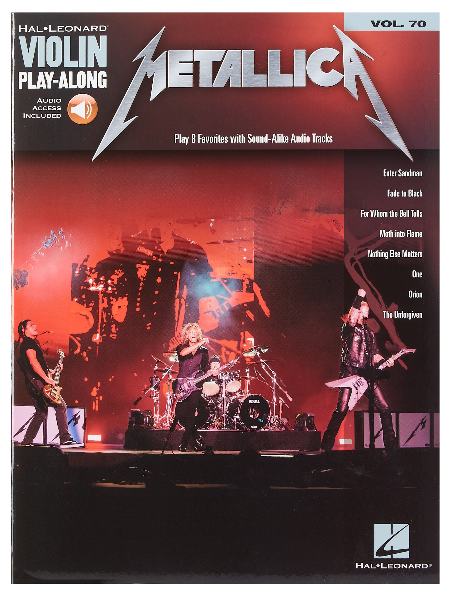 MS Violin Play-Along Volume 70: Metallica