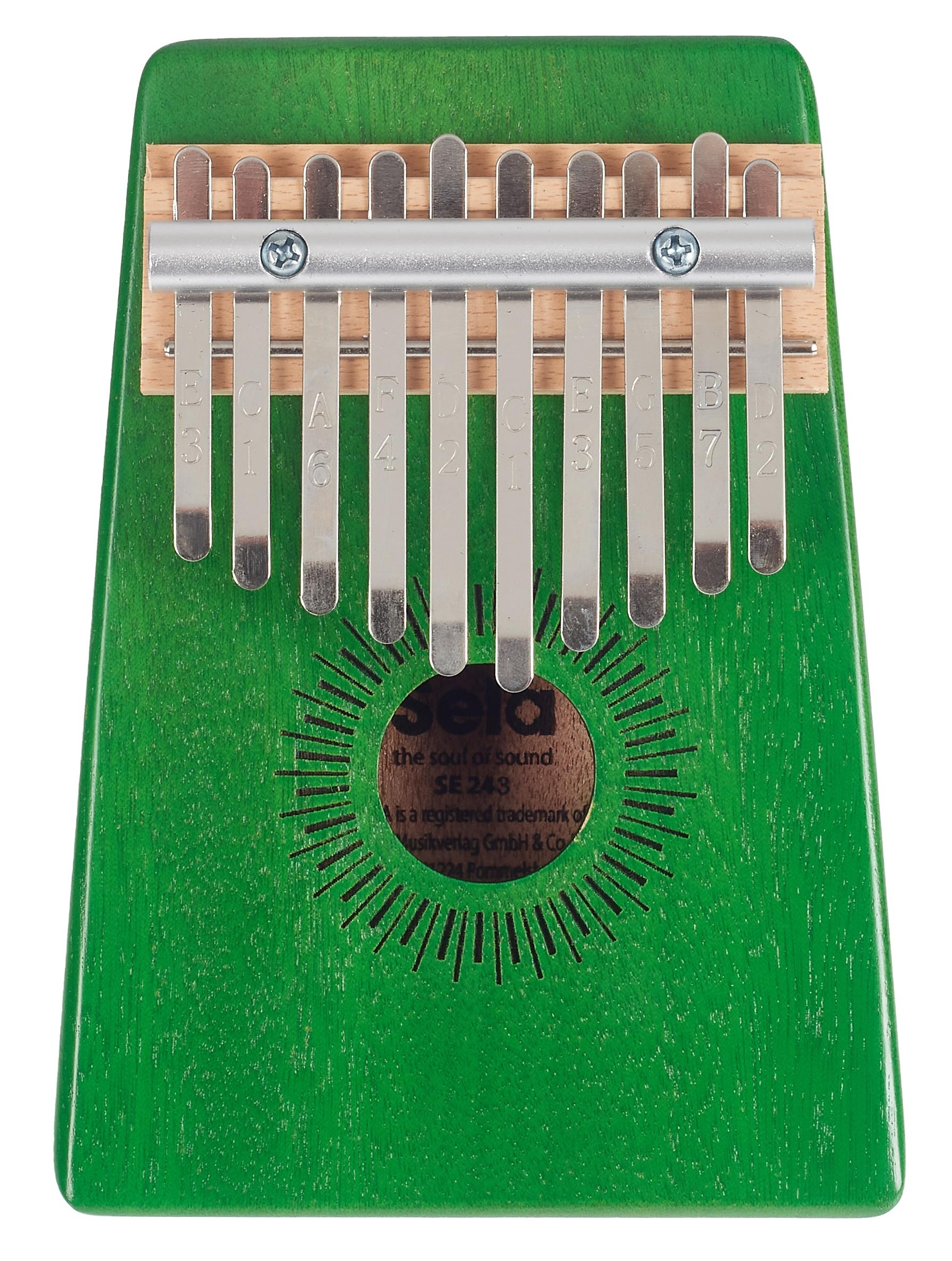 SELA Kalimba Mahogany 10 Green