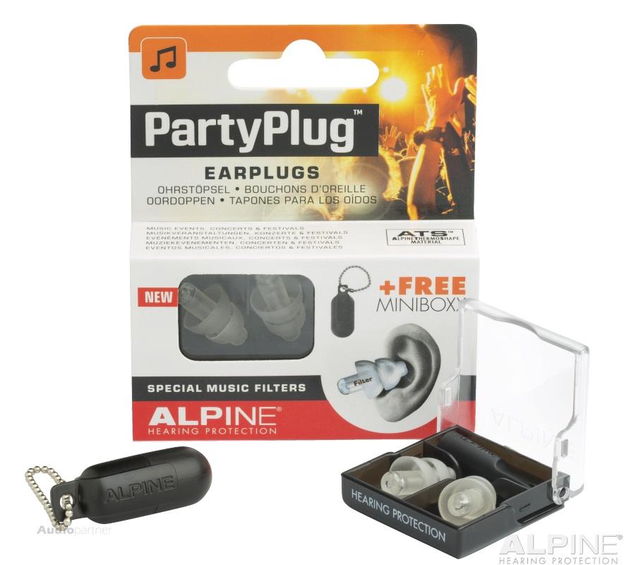 ALPINE PartyPlug Transparent Špunty do uší
