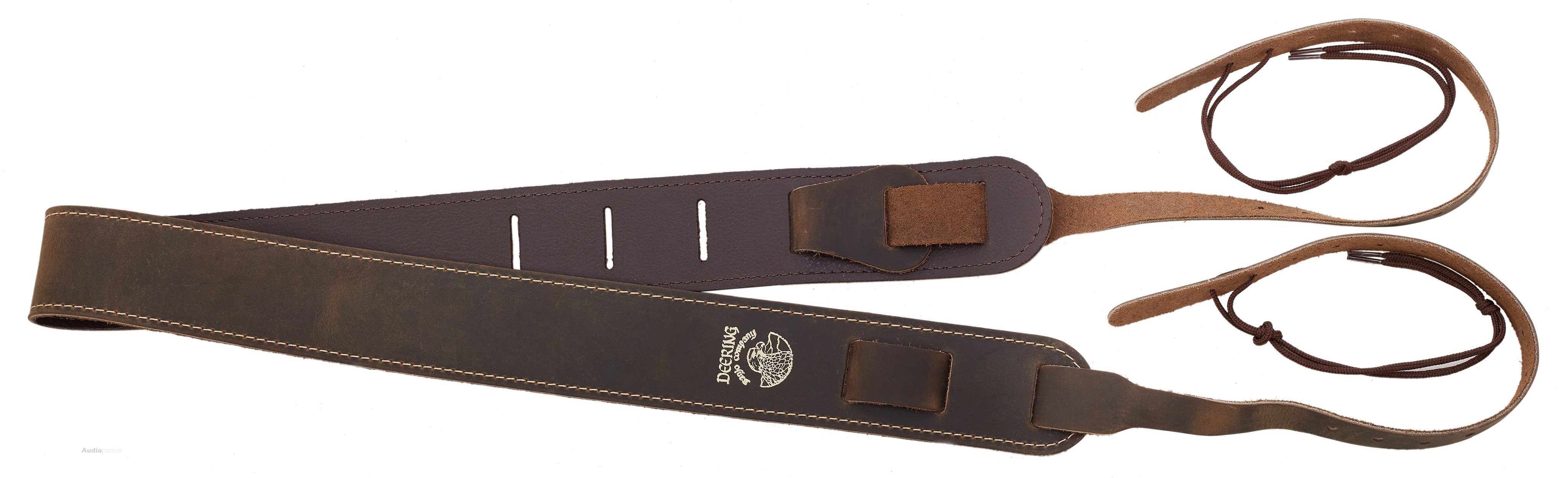 DEERING Stitched Leather Cradle Strap
