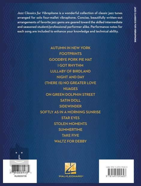 Weihnachtslieder Jazz Noten.Ms Jazz Classics For Vibraphone