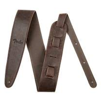 """FENDER Artisan Crafted Leather Strap 2.5"""" Brown"""