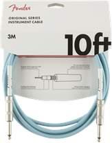 FENDER Original Series 10' Instrument Cable Daphne Blue