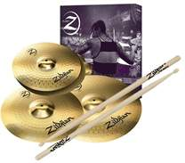 Planet Z Cymbal Set 4 pack + 5 pairs of Zildjian drumsticks for free