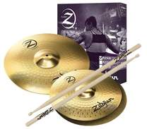 Planet Z Cymbal Set 3 pack + 5 pairs of Zildjian drumsticks for free