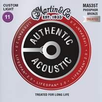 MARTIN Authentic Lifespan 2.0 92/8 Phosphor Bronze Custom Light
