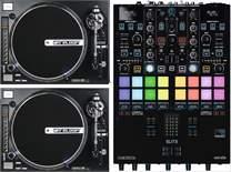 2x RP-8000 STRAIGHT + DJ Mixer