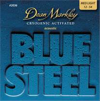 DEAN MARKLEY 2036 ML 12-54 Blue Steel Acoustic 012-016-025-032-042-054 MEDIUM LIGHT