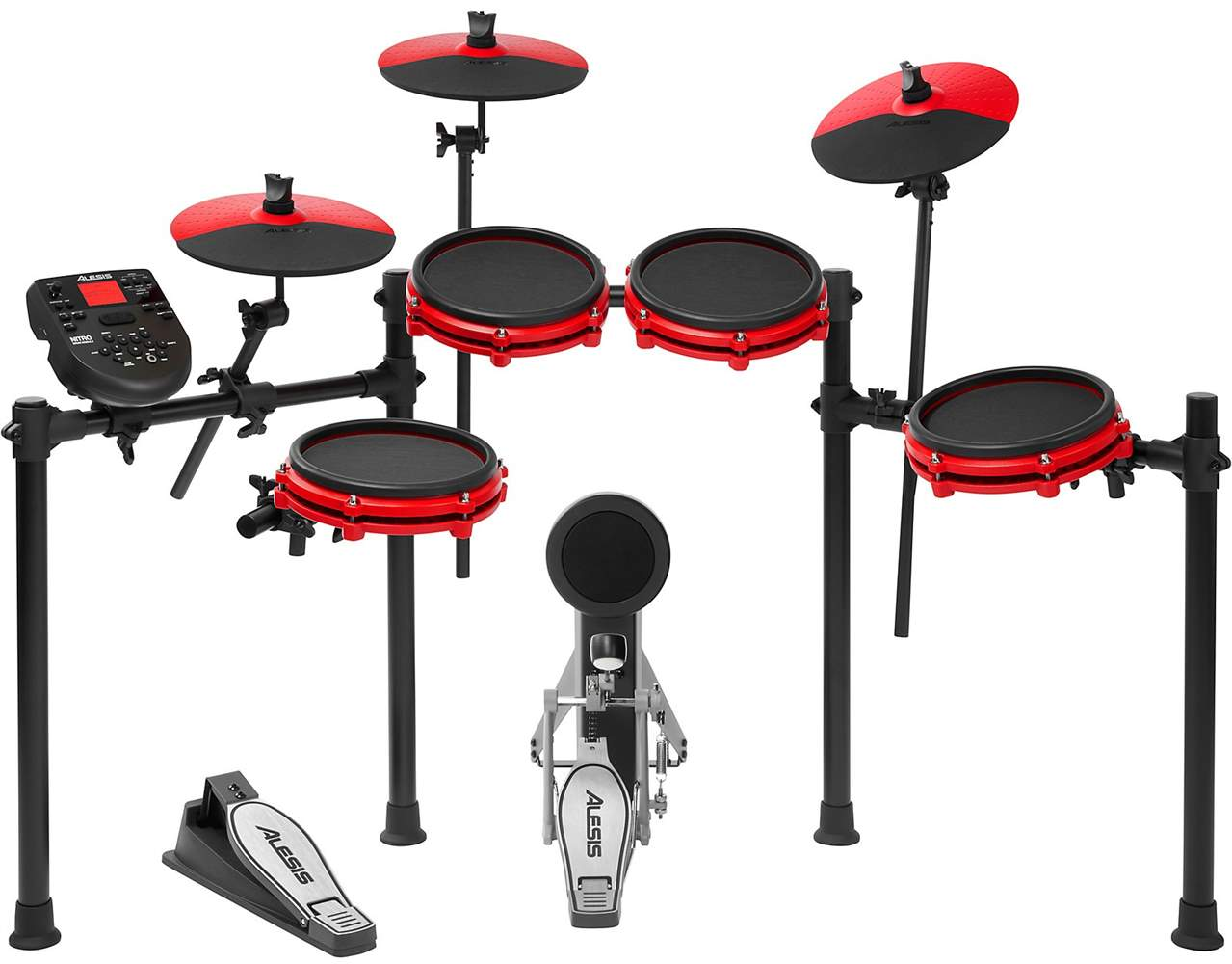ALESIS Nitro Red Mesh Kit Special Edition Electric Drum Kit