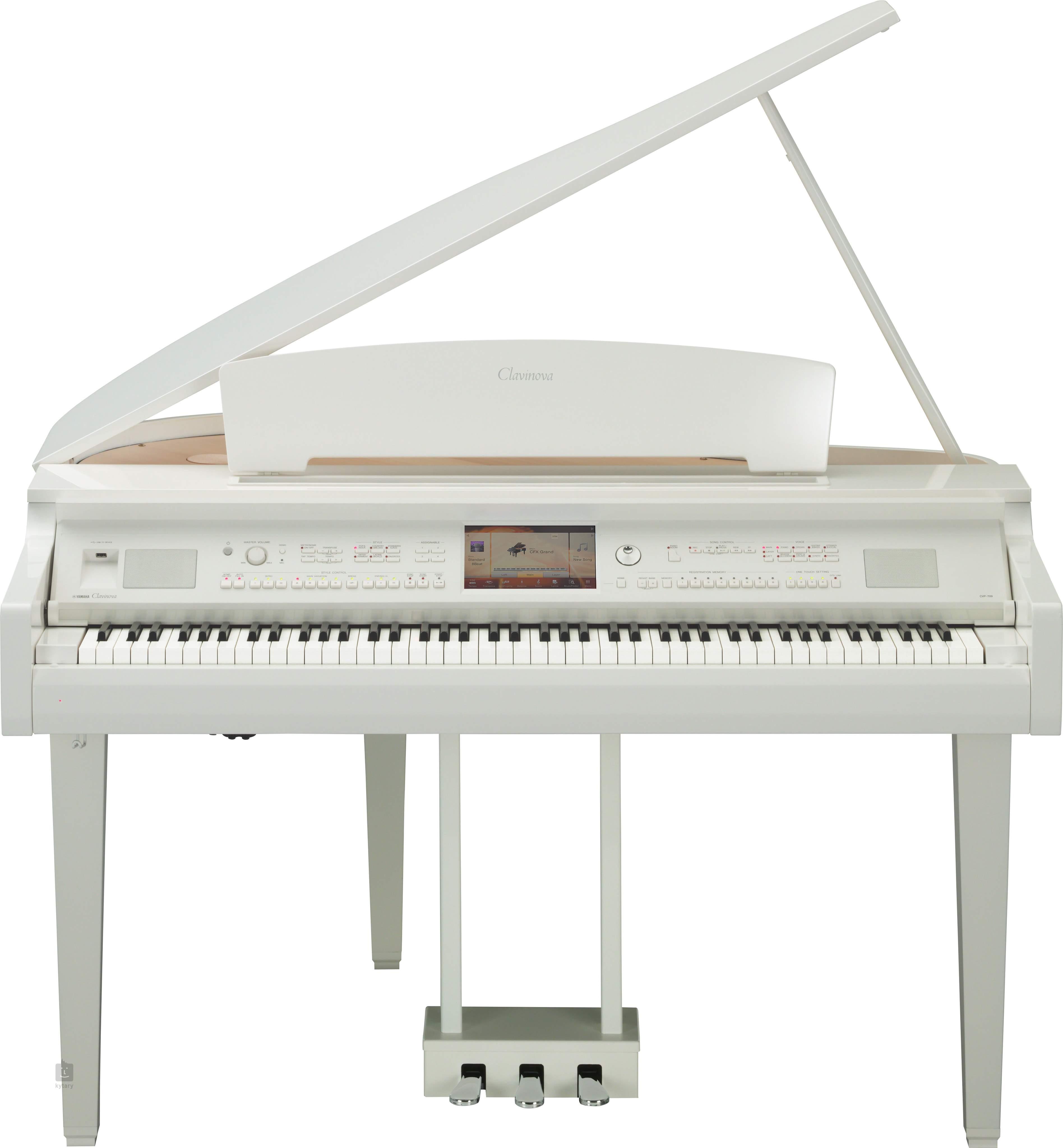 yamaha cvp 709 gpwh digital grand piano. Black Bedroom Furniture Sets. Home Design Ideas