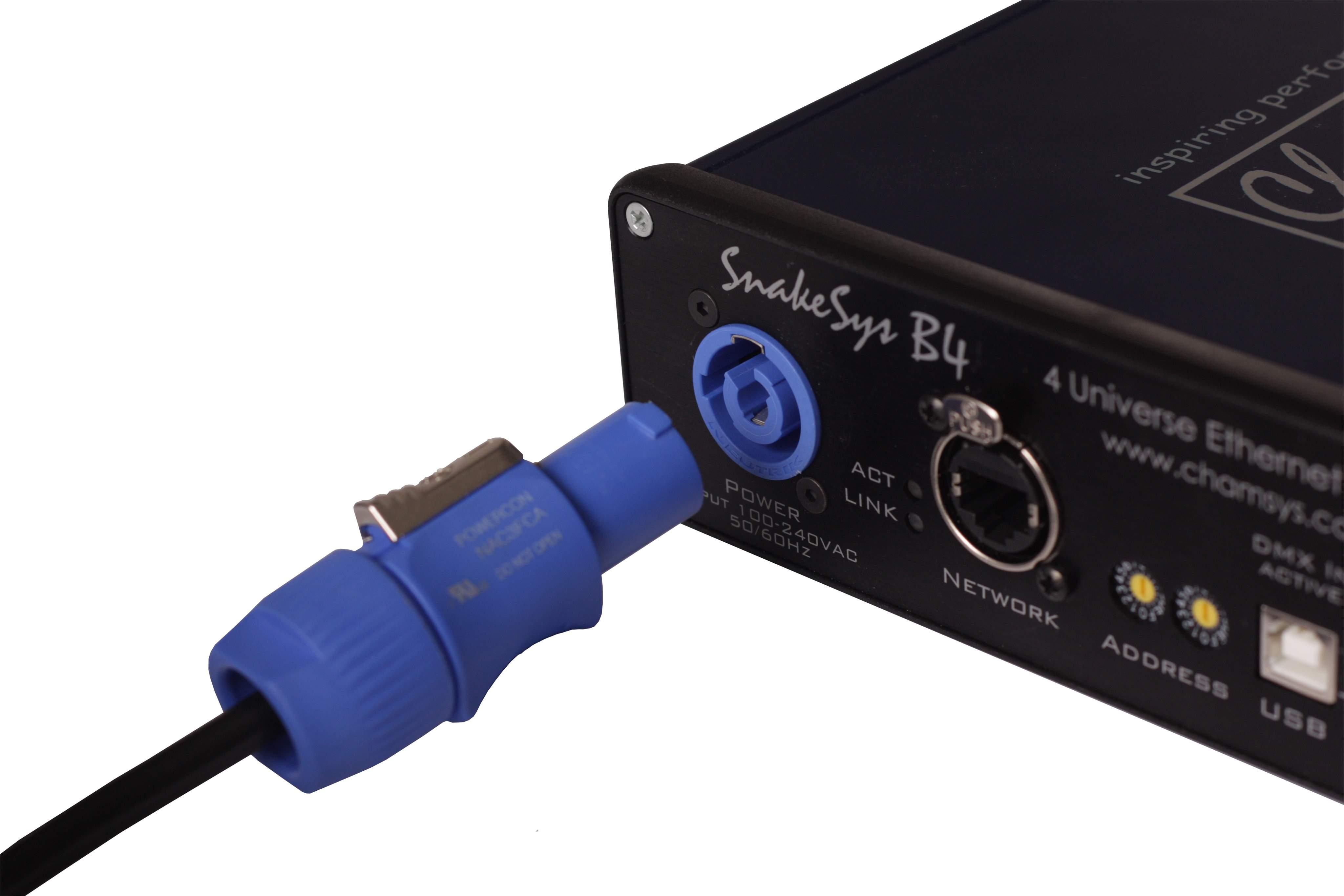 CHAMSYS SnakeSys B4 (ArtNet/DMX, 4 univ ) DMX/Ethernet Adapter