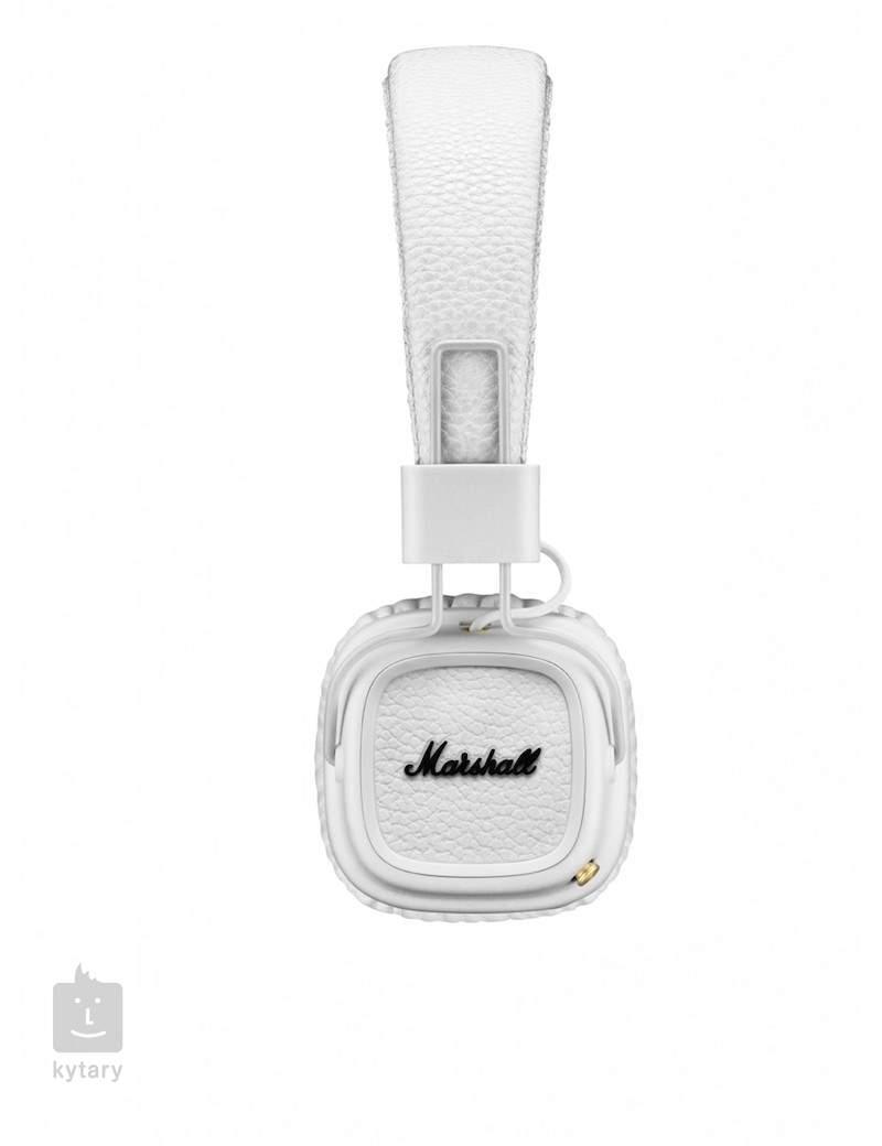 3ee4b48222b MARSHALL Major-II Bluetooth White Wireless Headphones