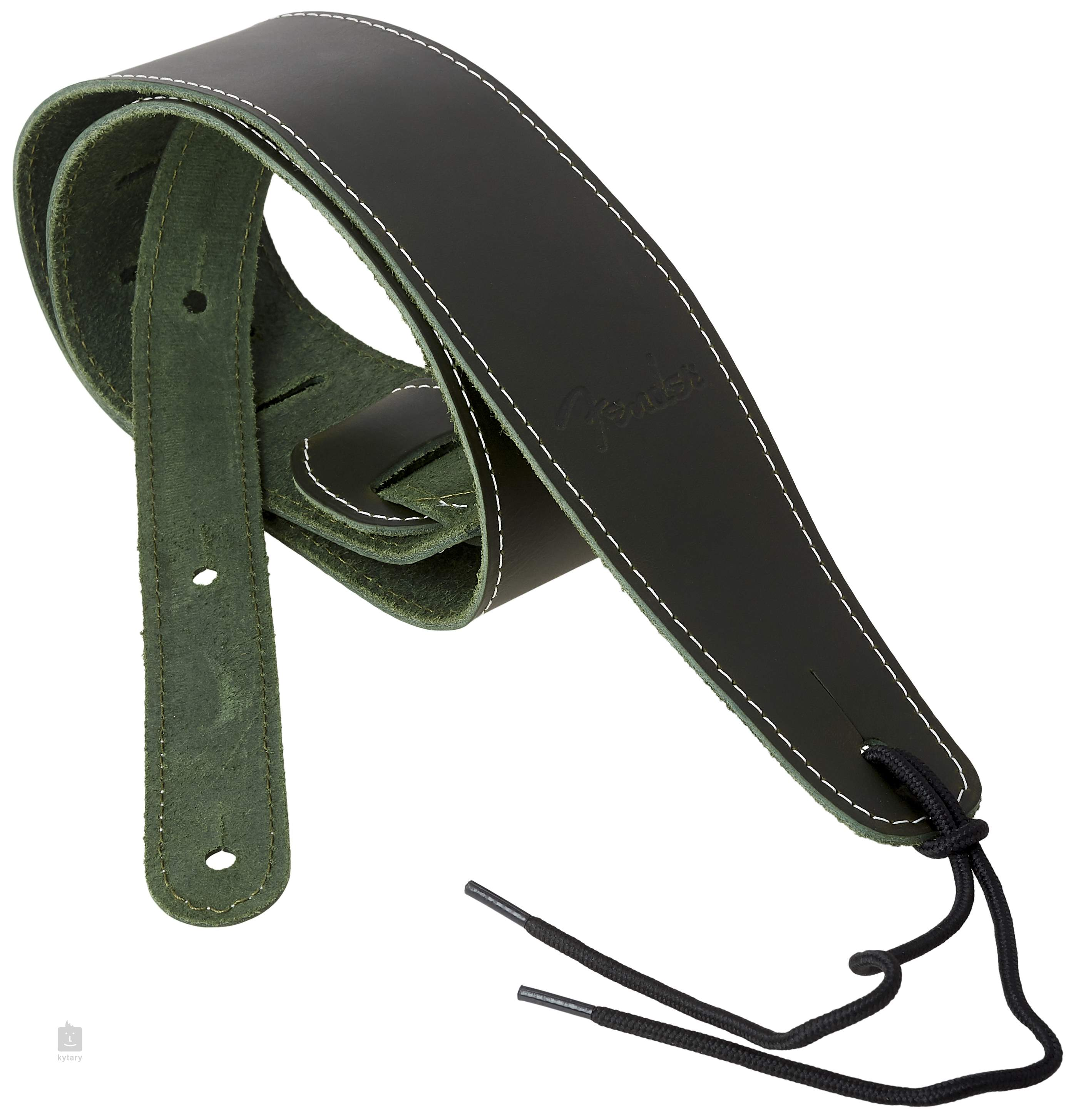 fender broken in leather strap green guitar strap. Black Bedroom Furniture Sets. Home Design Ideas