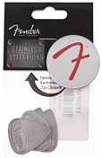 FENDER Steel Pick, 4 Pack, Medium