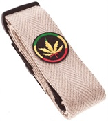 PERRI'S LEATHERS 6559 Hemp Cannabis Leaf
