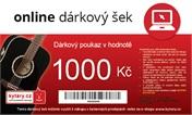 Online dárkový šek 1000 Kč