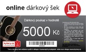 Online dárkový šek 5000 Kč