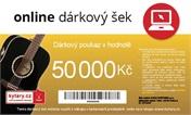 Online dárkový šek 50 000 Kč