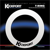KICK PORT T-Ring Bass Template - White