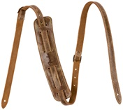 FENDER Fender Vintage-Style Distressed Leather Strap, Brown