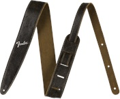 FENDER Distressed Leather Strap Black
