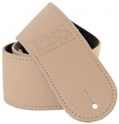 PRS Leather Strap Tan Logo