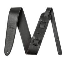 "FENDER Artisan Crafted Leather Strap 2.5"" Black"