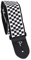 PERRI'S LEATHERS 6547 Jacquard Black And White Checker