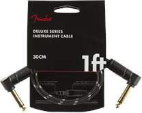 FENDER Deluxe Series 1' Instrument Cable Black Tweed