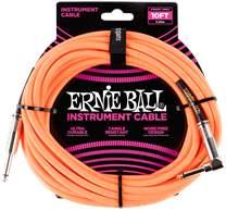 ERNIE BALL 10' Braided Cable Neon Orange
