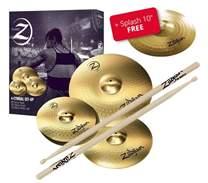 """Planet Z Cymbal Set 4 pack + 10"""" Splash + 5 párů paliček Zildjian ZDARMA"""