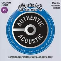 MARTIN Authentic SP 92/8 Phosphor Bronze Custom Light