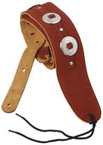 PERRI'S LEATHERS 298 Suede Conchos Brown