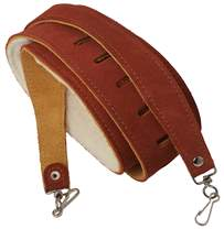 PERRI'S LEATHERS 6696 Banjo Strap Premium Suede Brown