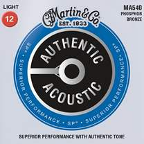 MARTIN Authentic SP 92/8 Phosphor Bronze Light