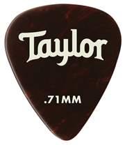 TAYLOR Celluloid Picks 0.71 Tortoise Shell