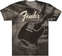 FENDER Telecaster Belt Print T-Shirt L